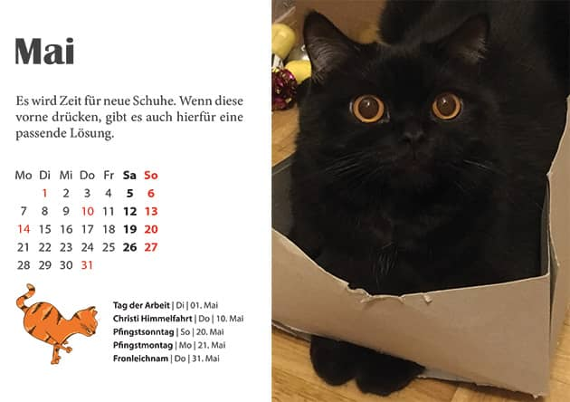 Kater Kalender Mai 2018